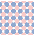 White Polka dot Chess Board Grid Rose Quartz vector image