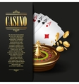 Casino background Gambling vector image vector image