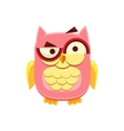 Confused Pink Owl vector image