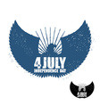 American Independence Day Eagle in grunge style vector image