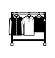 black sections silhouette of male clothes rack vector image