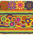 circles flowers pattern vector image