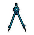 drawing compass stationery tool icon image vector image