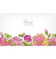 horizontal banner or floral background decorated vector image