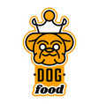 logo on the theme of food for dogs english vector image