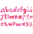 Lower case love alphabet vector image