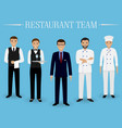 restaurant team concept group of characters vector image