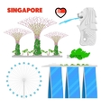 Singapore Travel Doodle with Architecture vector image