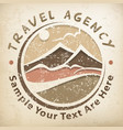 travel logo grunge vector image