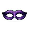 Violet shining carnival mask vector image