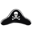 Black Pirate Hat vector image vector image