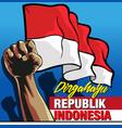 dirgahayu republik indonesia vector image vector image