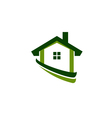 Green house real estate image vector image