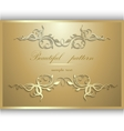 Gold frame for an inscription vector image vector image