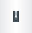 screwdriver and screw icon design vector image