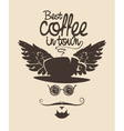 coffee town man vector image