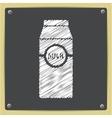 flat milk bottle vector image
