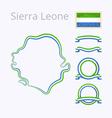 Colors of Sierra Leone vector image
