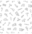 Construction pattern black icons vector image