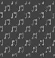 dark music seamless pattern vector image