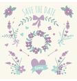 Floral Design Wedding Engagement Elements vector image