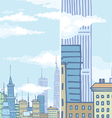 Huge City Buildings vector image