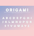 modern origami paper cutout creased font creative vector image