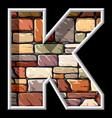 stone letter K vector image
