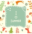 Sweet summer card with lovely forest plants and vector image