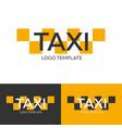 taxi logo logo template logotype concept vector image