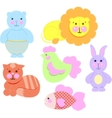 - baby toys icons set vector image