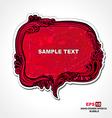 Retro style red speech bubble vector image vector image