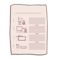 colorful opened recipe book with spiral vector image