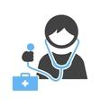 Wearing Stethoscope vector image
