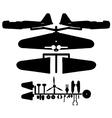 Model aircraft silhouette vector image