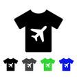 man t-shirt flat icon vector image