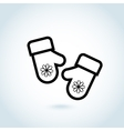 Christmas mitten icon vector image