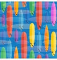 Flat style surfing boards colorful seamless vector image vector image