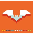 Flat design bat vector image
