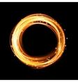 Magic gold circle Gold round frame vector image