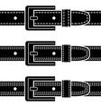 Buckle quilted belt black symbols vector image