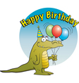 Cartoon Party Alligator vector image