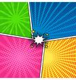 Comic magazine background set with speech bubbles vector image