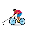 Polo on the bike Cartoon vector image