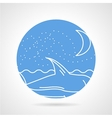 Round icon for sea life vector image