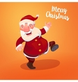 Santa with typography gritings vector image