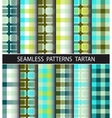 Set seamless pattern tartan vector image