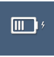 3d Battery charging icon symbol vector image
