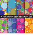 Seamless Colorful Circles Pattern Set Of 8 vector image