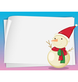 paper sheets and snowman vector image vector image